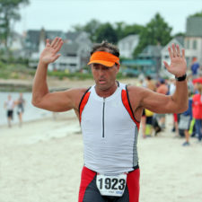 One of our patients recovered to return to his participation in triathlons.