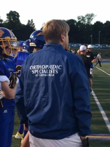 Dr. Fish serves as a team doctor for local sports teams.