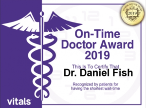 On-Time Doctor Award 2019 Dr  Daniel N  Fish - Orthopaedic
